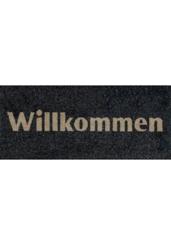 wash+dry by Kleen-Tex Fußmatte »Willkommen«, rechteckig, 9 mm Höhe, Schmutzfangmatte,... kaufen