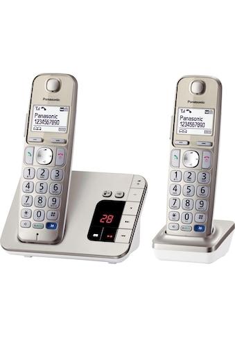 Panasonic Schnurloses DECT-Telefon »KX-TGE222GN«, (Mobilteile: 2 ), mit Anrufbeantworter, Freisprechen, Weckfunktion kaufen