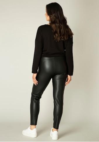 Base Level Curvy Leggings »Alene«, In leicht glänzender Lederimitat-Optik kaufen
