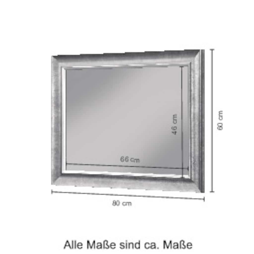 WELLTIME Badspiegel »Mira«, Spiegel silberfarben, 80 x 60 cm