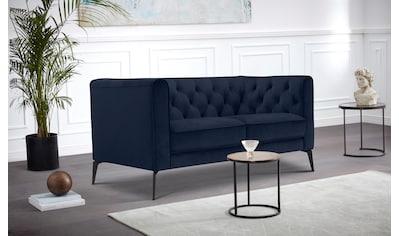 Leonique Chesterfield-Sofa »Namarda«, mit dekorativer Knopfheftung im Rückenteil und an den hohen Armlehnen, mit schlanken Metallbeinen, im Chesterfield-Design kaufen