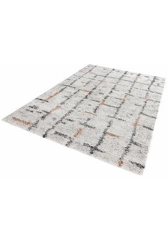 Hochflor - Teppich, »Grid«, MINT RUGS, rechteckig, Höhe 30 mm, maschinell gewebt kaufen