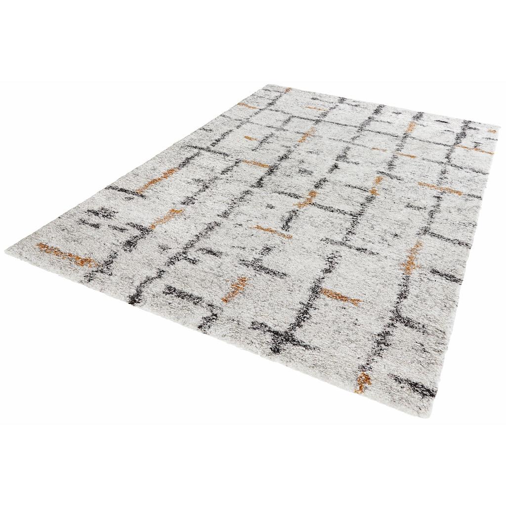 MINT RUGS Hochflor-Teppich »Grid«, rechteckig, 30 mm Höhe