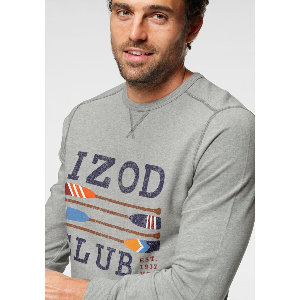 IZOD Sweatshirt, mit großem Logofrontprint