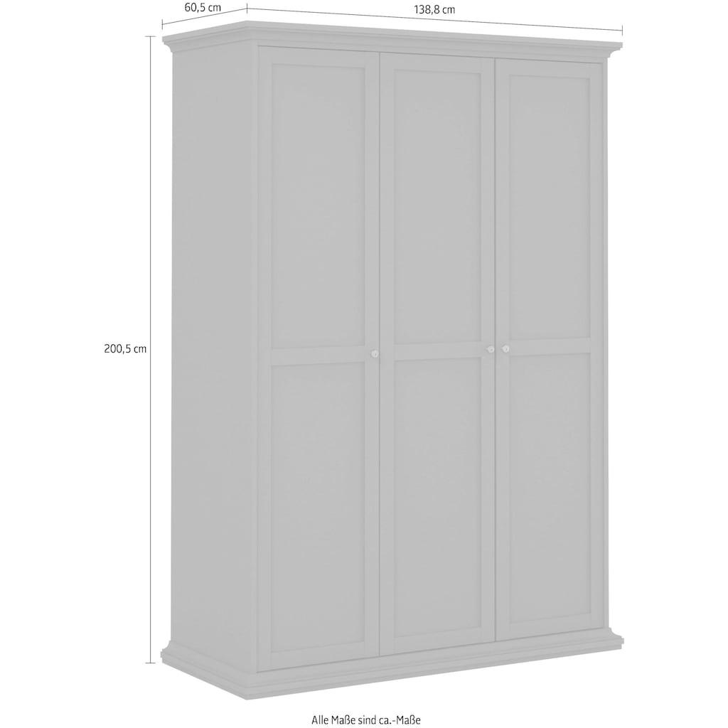 Home affaire Kleiderschrank »Paris«, im romatischen Landhaus-Stil aus schönem Holzfurnier, Höhe 200,5 cm