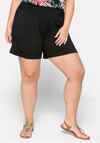 Sheego Shorts, mit breitem Smokbund kaufen