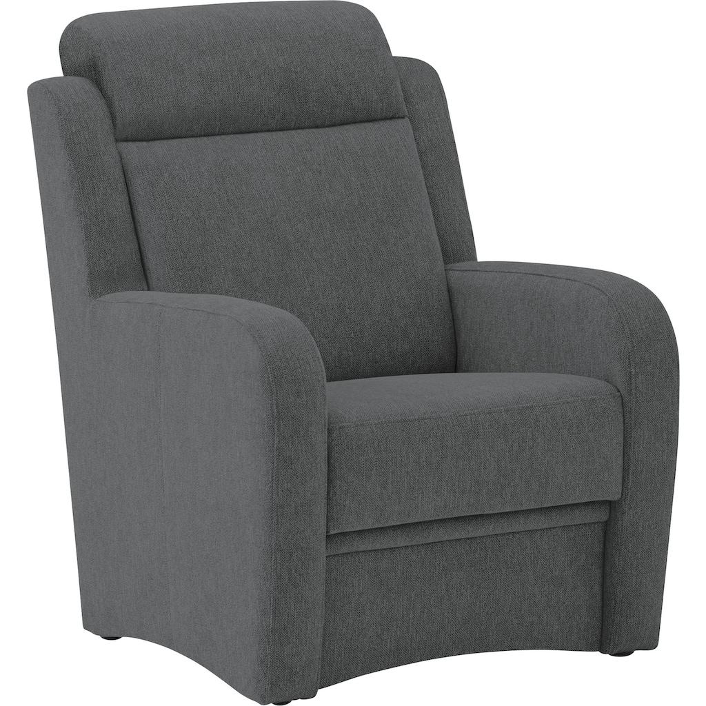 VILLA BECK Sessel »Varese«, inklusive Kopfteilverstellung, in Sitzhöhe 49 cm