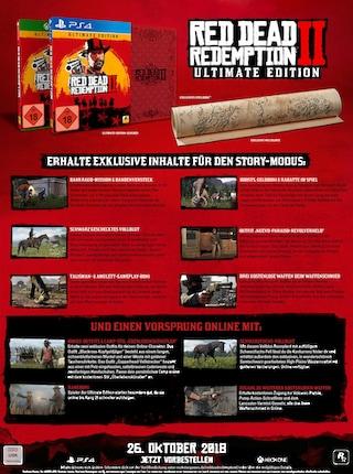 red dead redemption 2 ultimate edition playstation 4 auf. Black Bedroom Furniture Sets. Home Design Ideas