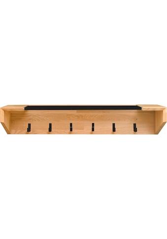 andas Garderobenpaneel »Greno«, aus massivem Eichenholz, mit fünf Haken aus Metall,... kaufen