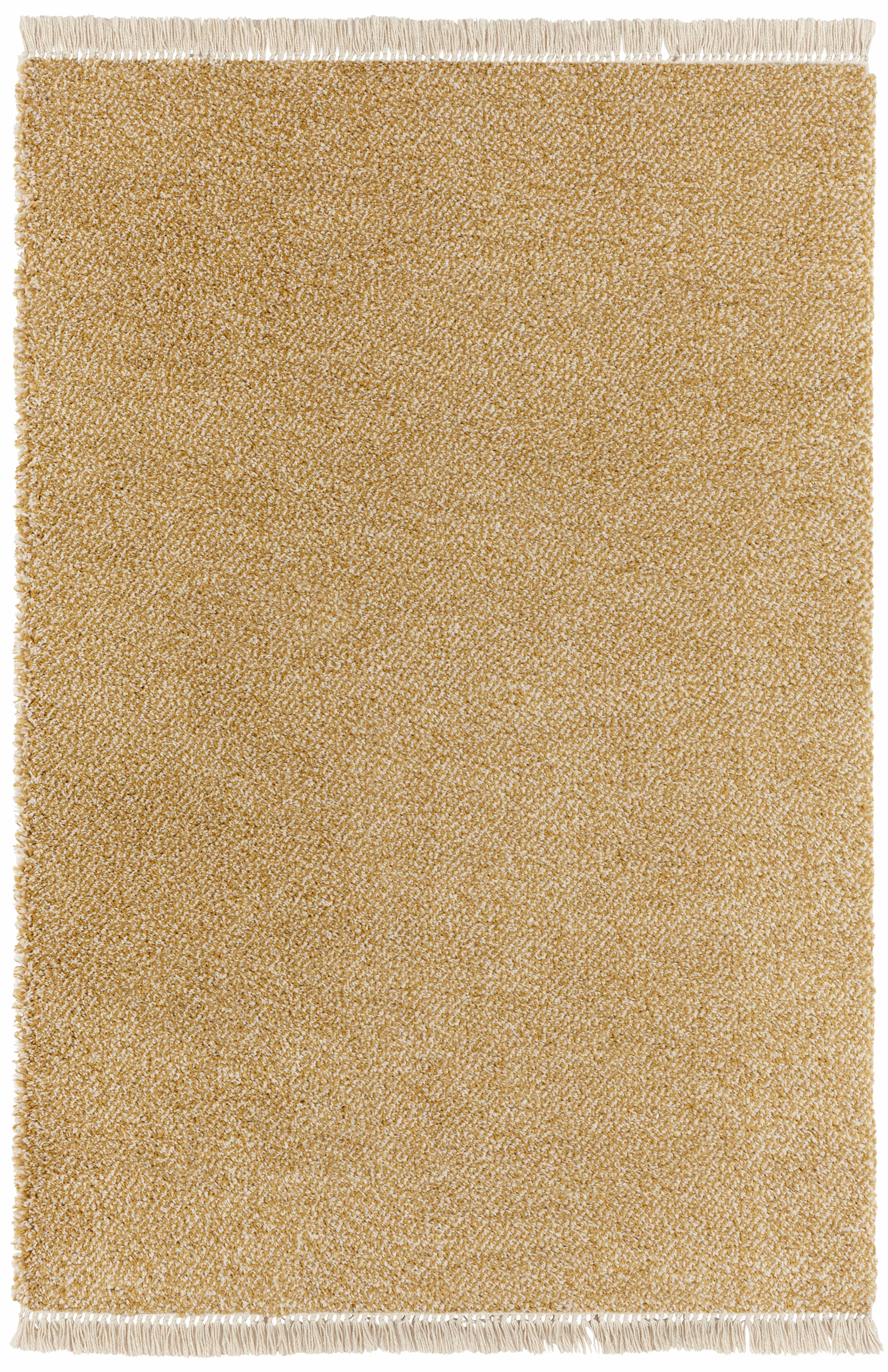 Hochflor-Teppich, »Aloe«, freundin Home Collection, rechteckig, Höhe 35 mm, maschinell gewebt | Heimtextilien > Teppiche > Hochflorteppiche | Gelb | FREUNDIN