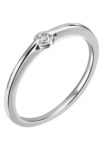 Firetti Diamantring »Solitär, Zargenfassung, Glanzoptik, massiv«, mit Brillant kaufen
