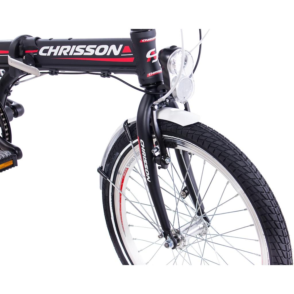 Chrisson Faltrad »Foldrider 3.0«, 7 Gang, Shimano, Nexus 7 Gang Schaltwerk, Nabenschaltung, (1 tlg.)