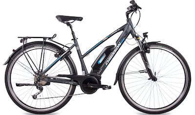 Chrisson E - Bike »E - Rounder Lady 9S«, 9 Gang Shimano Deore RD - M592 Schaltwerk, Kettenschaltung, Mittelmotor 250 W kaufen
