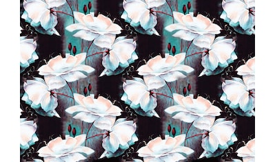 CONSALNET Vliestapete »Blumen Muster«, verschiedene Motivgrößen, für das Büro oder Wohnzimmer kaufen