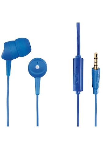 "Hama Kopfhörer ""Basic4Phone"", In - Ear, Mikrofon, Kabelknicks »Headset Blau« kaufen"