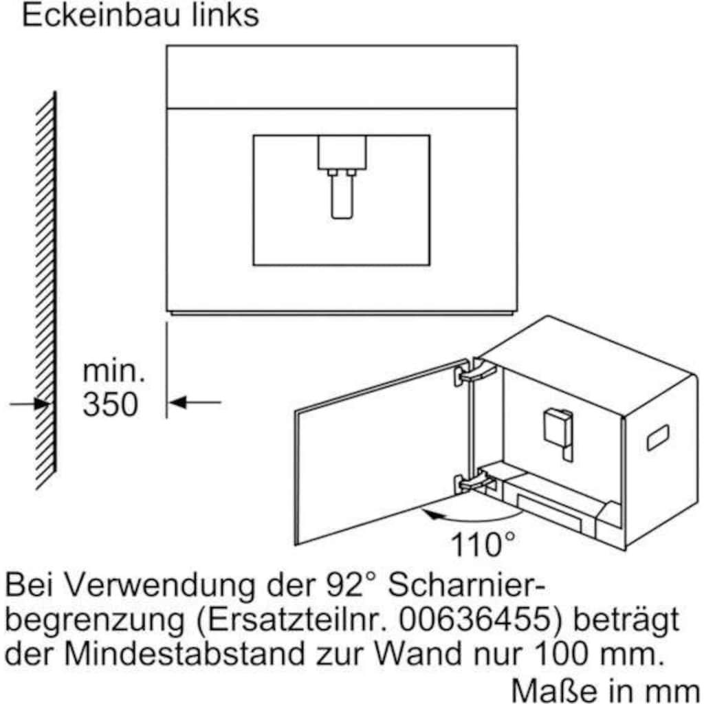 SIEMENS Einbau-Kaffeevollautomat »CT636LES6«