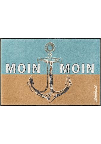 wash+dry by Kleen-Tex Fußmatte »Moin Moin«, rechteckig, 9 mm Höhe, Schmutzfangmatte,... kaufen