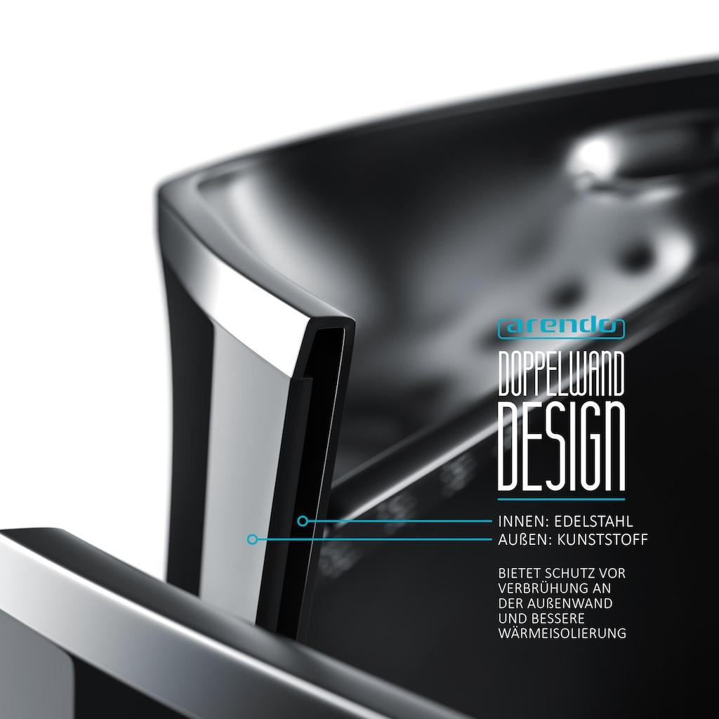 Arendo Edelstahl Wasserkocher mit Temperatureinstellung & LED Display