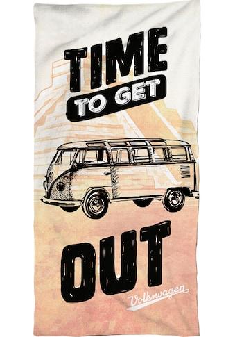 Volkswagen Strandtuch »Time to get out«, (1 St.), mit Schriftzug kaufen
