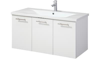 WELLTIME Waschplatz - Set »Lugo«, Waschtisch, Breite 100 cm, 2 - tlg. kaufen