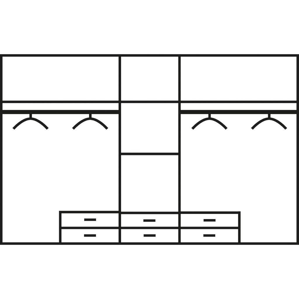 priess Kleiderschrank, mit gerundeten Elementen auf den Außentüren