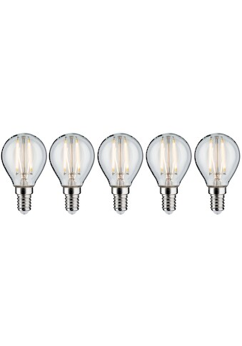 Paulmann LED-Filament »5er Pack 2,6W Tropfen E14 klar 2700K«, E14, 5 St., Warmweiß kaufen