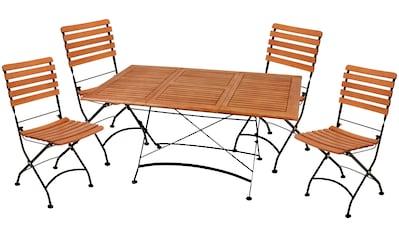 Garden Pleasure Gartenmöbelset »WIEN«, (5 tlg.), mit ausziehbarem Tisch kaufen