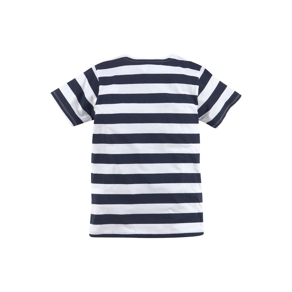 TOM TAILOR Polo Team T-Shirt »mit maritimen Streifen«