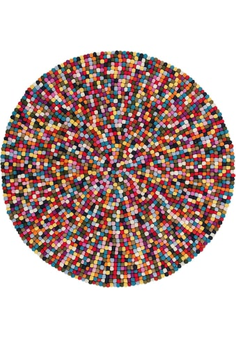 Wollteppich, »My Passion 730«, Obsession, rund, Höhe 30 mm, handgewebt kaufen
