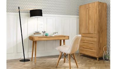 Home affaire Schreibtisch »Scandi«, aus massivem Eichenholz, mit vielen Stauraummöglichkeiten, Breite 110 cm kaufen