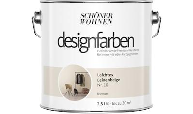 SCHÖNER WOHNEN-Kollektion Wand- und Deckenfarbe »Designfarben«, leichtes Leinenbeige... kaufen