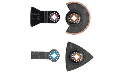 BOSCH Werkzeugset »Starlock«, (Set, 4 St.), Fliesen-Set für Multifunktionswerkzeuge kaufen