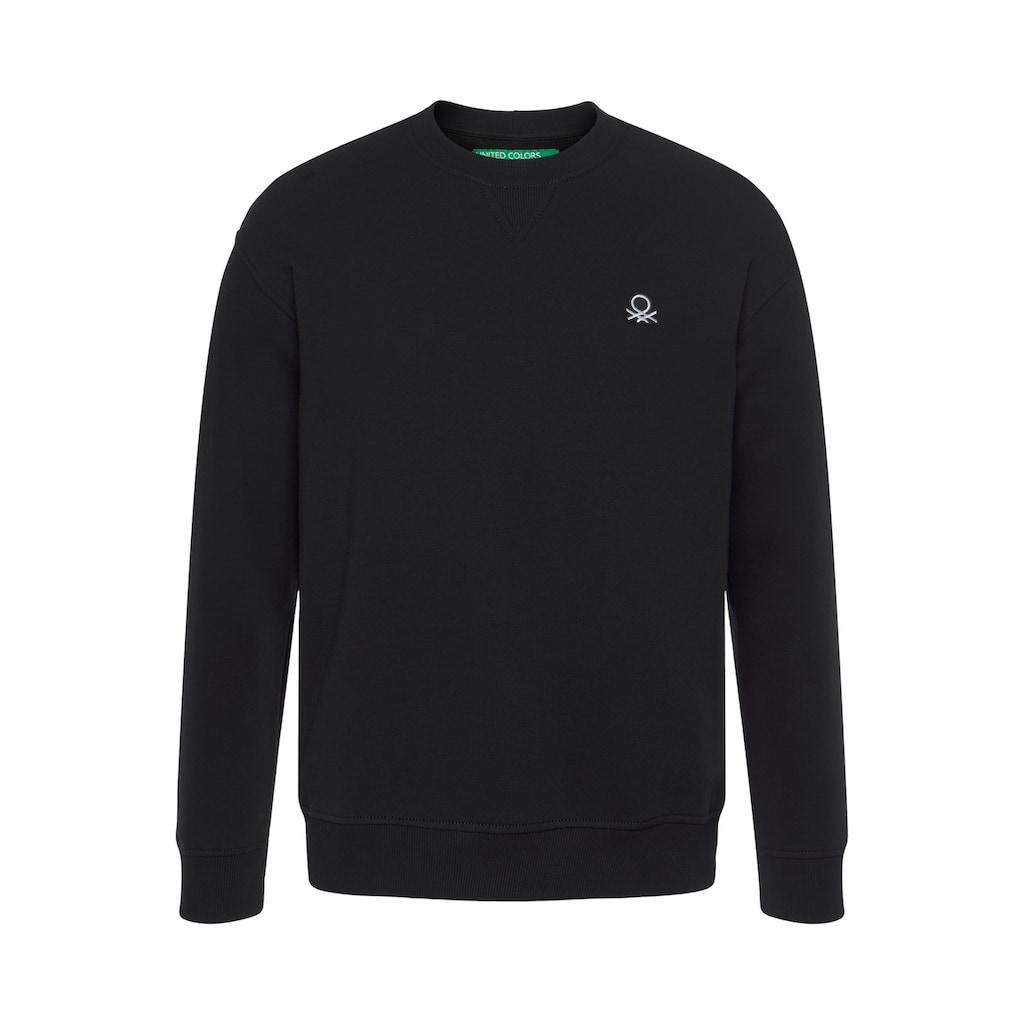 United Colors of Benetton Sweatshirt, mit Logostickerei