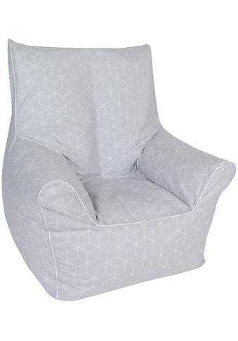 Knorrtoys® Sitzsack »Geo cube, grey« kaufen