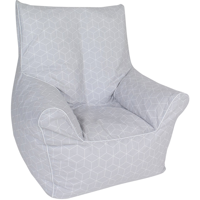 Knorrtoys® Sitzsack »Geo cube, grey«