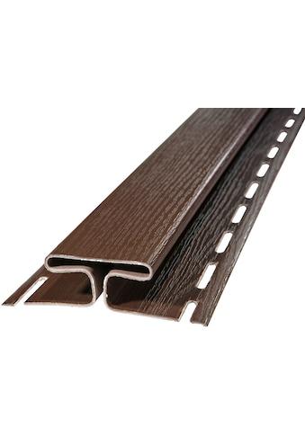 BAUKULIT Set: Verbindungsprofile »SOFFIT Braun«, für Dachüberstand, 2er Set, je 1,525 m kaufen