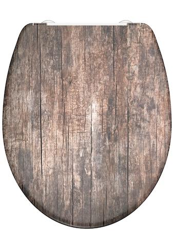 welltime WC-Sitz »Used Wood«, hochwertiger abnehmbarer Premium-Toilettendeckel mit... kaufen