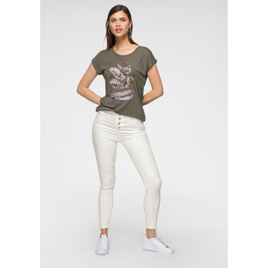 HaILY'S T-Shirt, mit Paillettenprint