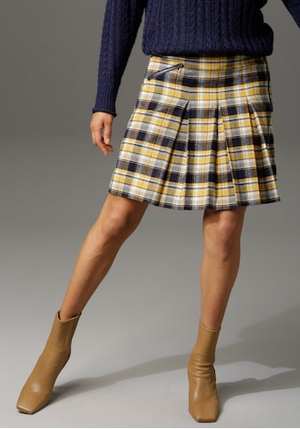 Aniston CASUAL Faltenrock, mit Zierreißverschluss im Vorderteil kaufen