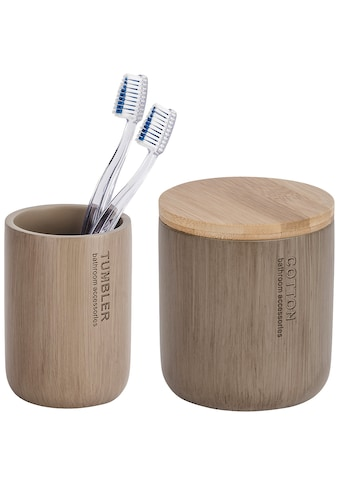 WENKO Bad - Accessoire - Set »Palo«, 2 - teilig, Bambus kaufen