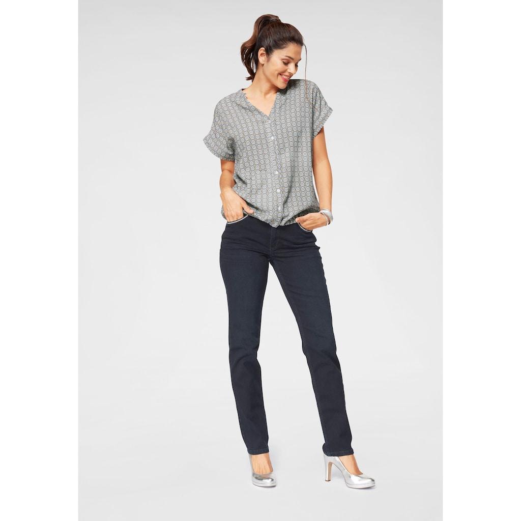 MAC Straight-Jeans »Melanie Glam Chain«
