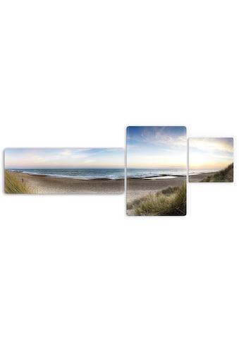 Wall-Art Glasbild »Strandpanorama«, 3-tlg. kaufen