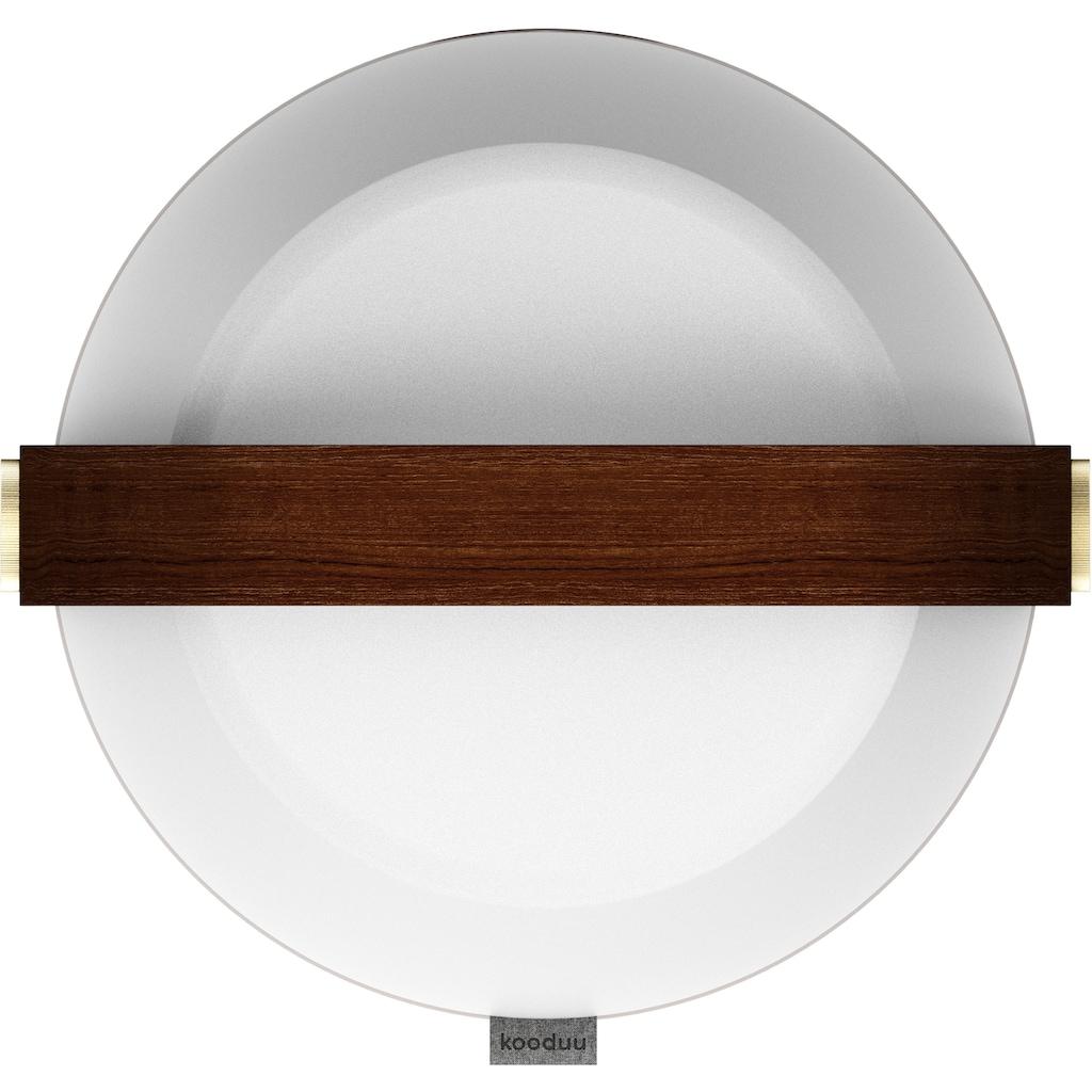 kooduu LED Tischleuchte »Lite-up«, LED-Board, Warmweiß, dimmbar in 4 Stufen, mit hochwerigem Holzgriff