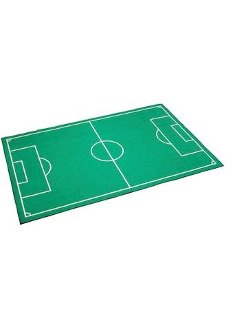 Böing Carpet Kinderteppich »Fußballfeld«, rechteckig, 4 mm Höhe, bedruckt, Fußball... kaufen