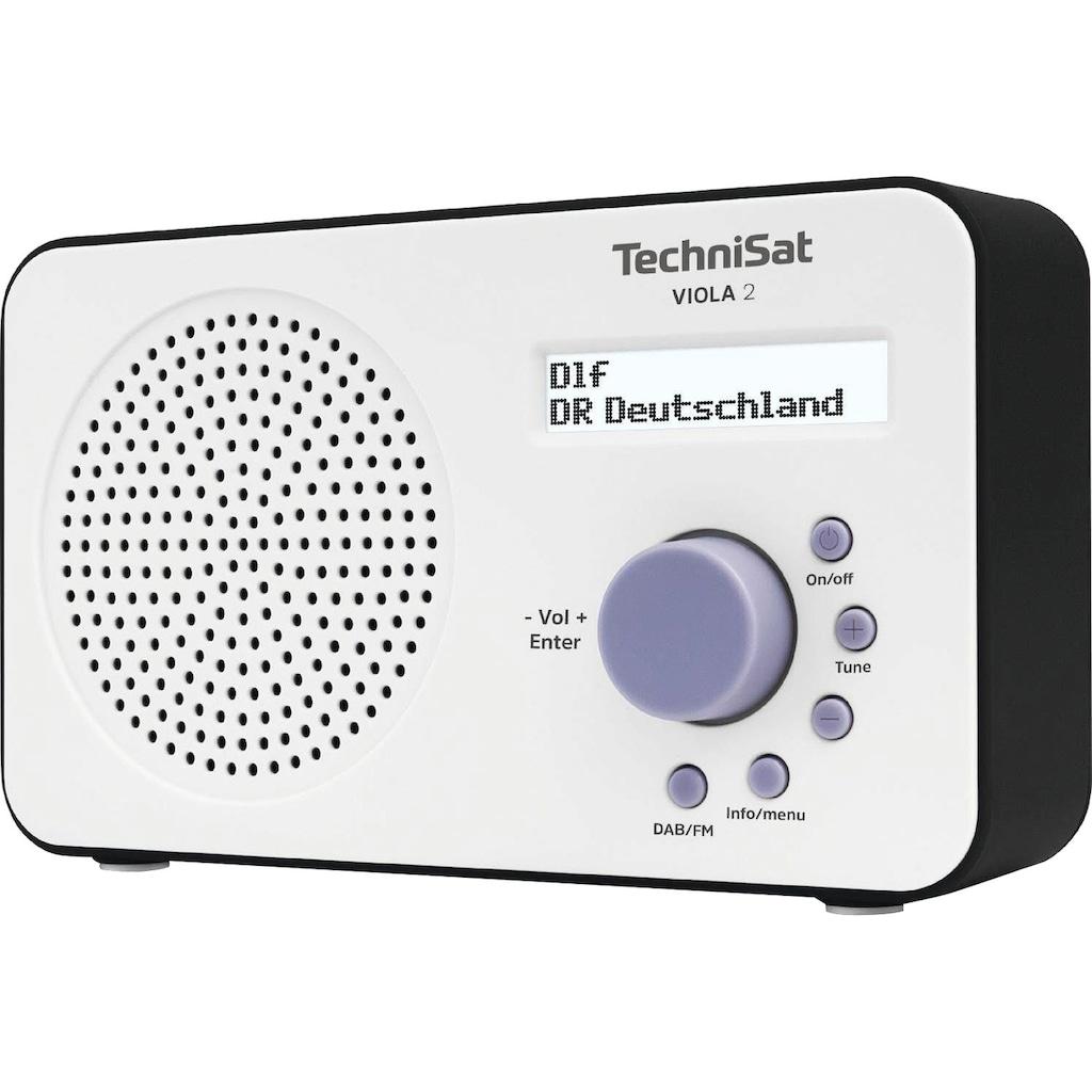 TechniSat Digitalradio (DAB+) »VIOLA 2 Tragbares«, (Digitalradio (DAB+)-UKW mit RDS), zweizeiliges Display, Batteriebetrieb möglich