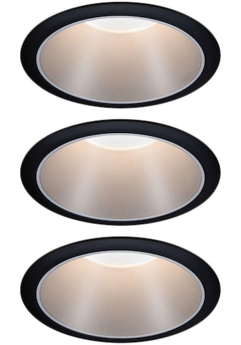 Paulmann LED Einbauleuchte »3er Set Cole 3x6,5W Schwarz/Silber matt 3-Stufen-dimmbar... kaufen