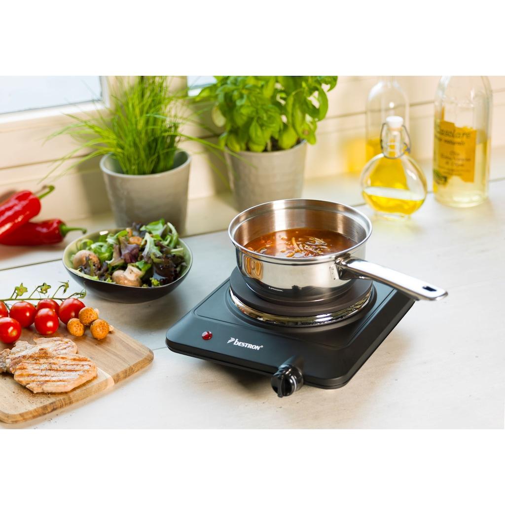 bestron Einzelkochplatte »Kitchen Heroes«, aus Gusseisen, Ø 18 cm, 1500 Watt, Schwarz