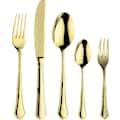 PINTINOX Besteck-Set »Settecento Treasure Gold«, (Set, 30 tlg.), Edelstahl 18/10, Optik Gold PVD Beschichtung, 30-teilig