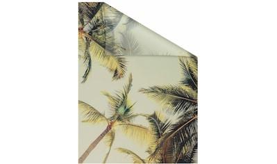 Fensterfolie, »Palmen und Sonne«, LICHTBLICK, blickdicht, strukturiert kaufen