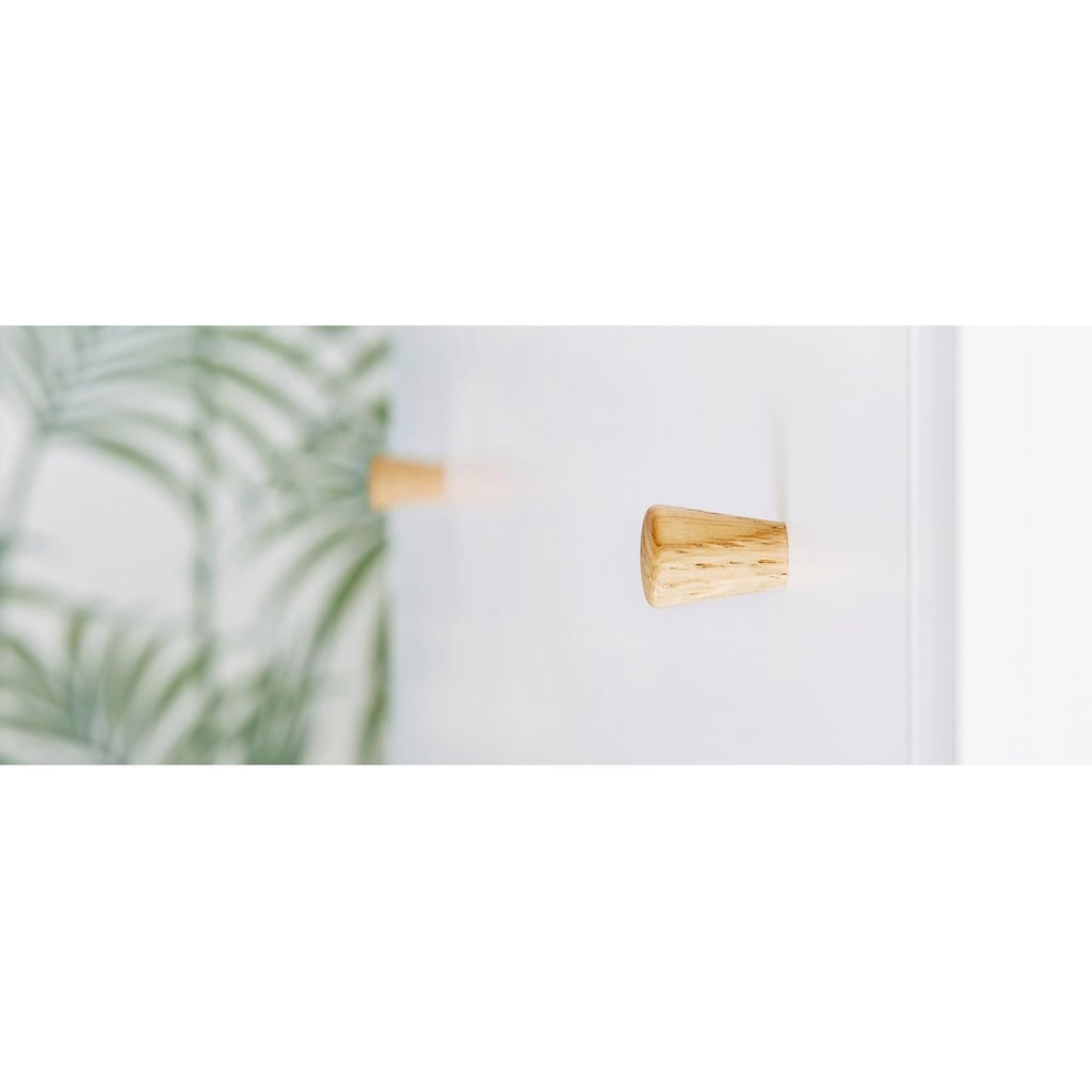 Pinolino® Babyzimmer-Komplettset »Pan«, (Set, 3 St.), extrabreit groß; mit Kinderbett, Schrank und Wickelkommode; Made in Europe